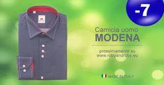 Camicia uomo MODENA prossimamente su www.robyandroby.eu - 7 giorni all'apertura!