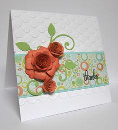 Thank you card by Wanda Cullen using Verve Stamps.  #vervestamps