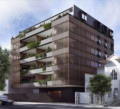 Hotel Architecture, Futuristic Architecture, Concept Architecture, Architecture Design, Building Facade, Building Design, Palermo, Architecture Presentation Board, Co Housing