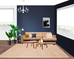 My Progress on New Project: Navy Blue Living Room - L' Essenziale
