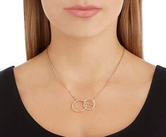 LOVE. Flash Necklace, Small, White, Rose gold plating from #Swarovski