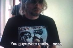 Kurt geeks out to Sonic Youth