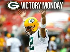 Is it Sunday yet? Time to enjoy another Victory Monday. Green Bay Packers