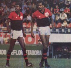 Washington (RIP) e Assis, dupla que marcou época no C. Atlético Paranaense conquistando o Campeonato Paranaense de 1982.