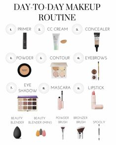 Day to Day Makeup Routine daily makeup routine spring makeup spring makeup 2019 10 minutes makeup routine easy makeup quick makeup routine natural makeup routine summer m. Quick Makeup Routine, Everyday Makeup Routine, Easy Everyday Makeup, Everyday School Makeup, Nighttime Skincare Routine, K Beauty Routine, Skin Care Routine 30s, Everyday Makeup Tutorials, Makeup Vanity Set