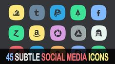 A selection of free Social Media Icons ...