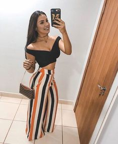 Simple Summer to Spring Outfits to Try in 2019 Look Fashion, Trendy Fashion, Girl Fashion, Fashion Outfits, Womens Fashion, Fashion Clothes, Fashion Pants, Fasion, Spring Fashion