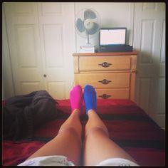 For whatever reason, I dislike wearing the same socks on both feet. It feels wrong to me.