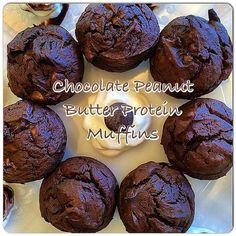 These gooey, decadent Chocolate Peanut Butter Muffins are packed with protein and oh-s... | Use Instagram online! Websta is the Best Instagram Web Viewer!
