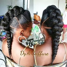 Protective Hairstyles For Natural Hair, Natural Hair Braids, Braids For Black Hair, Natural Hair Tips, Natural Hair Styles, Natural Afro Hairstyles, Twist Hairstyles, Pretty Hairstyles, Wedding Hairstyles