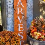 HARVEST Barnwood sign for fall – my pin that is going VIRAL on Pinterest!