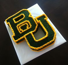 #Baylor University logo birthday or grooms cake! #SicEm