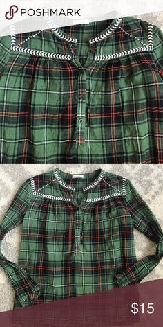 Crewcuts lightweight Plaid Top VGUC. Very light wash wear. J. Crew Shirts & Tops Tees - Long Sleeve