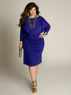 Blue dress - plus size