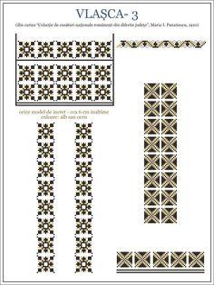 modele cusaturi ie - Yahoo Image Search Results Folk Embroidery, Embroidery Patterns, Cross Stitch Patterns, Manado, Wedding Album Design, Hama Beads, Beading Patterns, Pixel Art, Kitsch