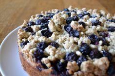 Blueberry and lemon crumble cake. I LOVE blueberries!