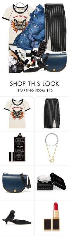 """""""My Mood Today"""" by lidia-solymosi ❤ liked on Polyvore featuring Gucci, Balenciaga, Alaïa, Charlotte Chesnais, Victoria Beckham, Chanel, The Row and Tom Ford"""