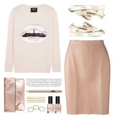 """""""..."""" by yexyka ❤ liked on Polyvore featuring Giuseppe Zanotti, Clare V., Bobbi Brown Cosmetics, Wet Seal, Cara, Markus Lupfer, MSGM and Charlotte Tilbury"""