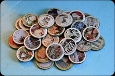 Cute vintage magnets I made