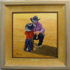 Cowboy Talk  By Barry Arthur  Cedar Break Gallery, Abilene TX  This is one of my favorite paintings of his.  www.barryarthur.com