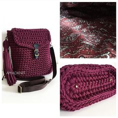 "New Cheap Bags. The location where building and construction meets style, beaded crochet is the act of using beads to decorate crocheted products. ""Crochet"" is derived fro Love Crochet, Crochet Gifts, Crochet Yarn, Crochet Handbags, Crochet Purses, Sacs Tote Bags, Cotton Cord, Yarn Bag, Crochet Shell Stitch"