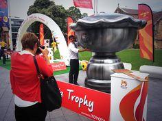 The 2015 Asian Cup MEGA trophy idea for fan photos looks impressive.