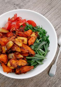 sweet potato & green bean salad -- yum!