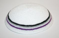 kippah asexual pride by rainbow6colors on Etsy