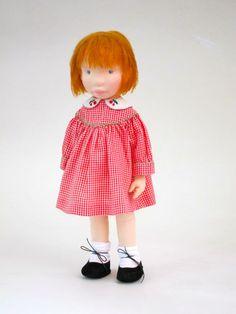 Cherry, Handmade cloth doll by AldegondeCeelen on Etsy