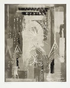 John Piper, 'Rheims Cathedral' 1972