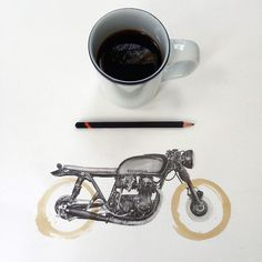 Coffee Stain Illustrations by California Artist Carter Asmann