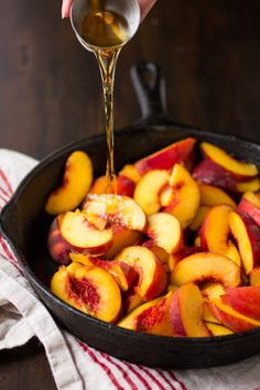 Maple Sugar, Bourbon, and Brown Butter Peach Crisp