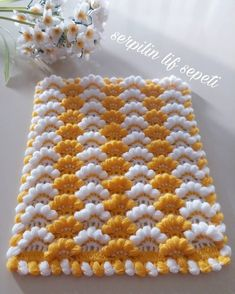 Crochet Mittens - Diadema a Crochet en punto tunecino de onditas en con flores tejido tallermanualperu Crochet Afghans, Baby Blanket Crochet, Crochet Doilies, Crochet Stitches, Crochet Baby, Knitting Blogs, Knitting For Beginners, Knitting Patterns, Crochet Flower Patterns