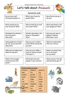This worksheet contains 18 conversation cards and a matching exercise. The cards can be cut out if desired and be used as conversation questions. Can be used with both young learners and adults (elementary to intermediate).  - ESL worksheets
