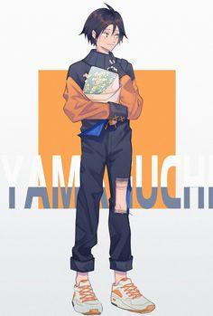 Yamaguchi Tadashi Tsukiyama Haikyuu, Haikyuu Karasuno, Kageyama Tobio, Haikyuu Ships, Haikyuu Fanart, Haikyuu Anime, Nishinoya, Anime People, Anime Guys