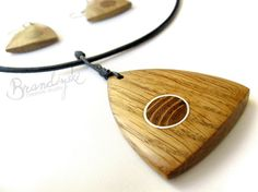 WOODEN JEWELRY Original Handmade Wooden by BrandiyskiWOODENART, €45.00 Wire Jewelry, Wooden Jewelry, Stone Jewelry, Jewelry Crafts, Wood Necklace, Pendant Earrings, Pendant Jewelry, Wood Stone, Wood Rings