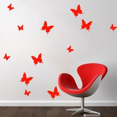 Diy Paper Butterfly Wall Decor Butterfly Wall Decor, Pvc Wall, Paper Decorations, Diy Paper, Wall Stickers, Design, Home Decor, Decor Ideas, Paper Ornaments