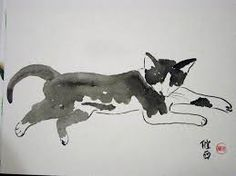 Image result for chinese painting cat