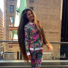 """Spring mood in @iswagshop  #Volkosh  #bright #spring  #clothes #Newyork #NYC #Manhattan #hair #longhair #Rapunzel #model Hair  Very long hair"