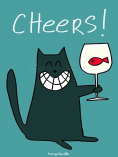 Crazy Cat Lady, Crazy Cats, I Love Cats, Cool Cats, Gato Animal, Birthday Cards, Happy Birthday, Cat Run, Black Cat Art