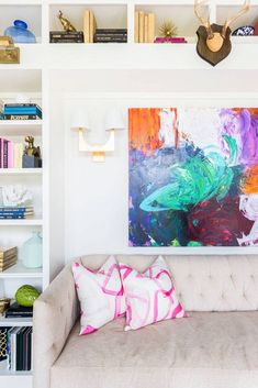 Shop domino for the top brands in home decor and be inspired by celebrity homes and famous interior designers. domino is your guide to living with style. Tiny Apartment Decorating, Apartment Living, Apartment Design, Apartment Ideas, Bright Colors Art, Interior Inspiration, Design Inspiration, Design Ideas, Famous Interior Designers