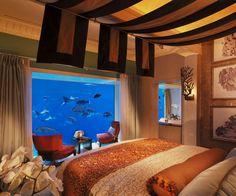 Hotel de Dubai tem suítes submersas com vista para aquário gigante