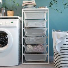 JONAXEL Frame with mesh baskets, 19 It can be difficult to keep things neat and tidy. JONAXEL storage system lets you utilize the spaces you have in smarter ways. Ikea Closet Organizer, Closet Organization, Laundry Basket Organization, Organisation Hacks, Neat And Tidy, Tidy Up, Bed Storage, Storage Baskets, Kitchen Storage