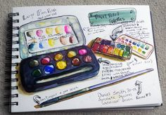 Watercolor Travel and Field Kit Palette by *jenthestrawberry on deviantART
