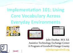 Video of the Week: Core Vocabulary All Day Long