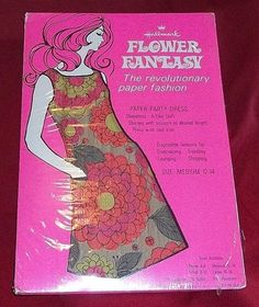 Vintage 1960s Paper Dress Psychedelic Throw Away Generation Iconic from universetreasures on Ruby Lane