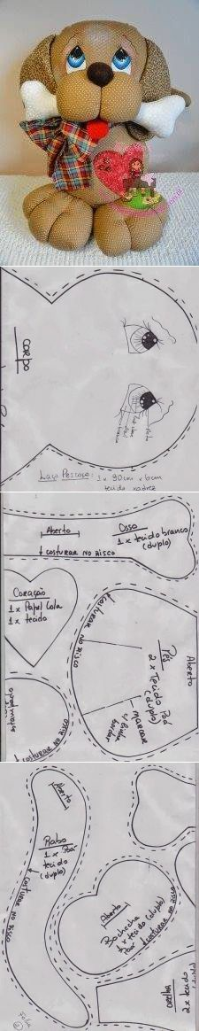 FELTRO MOLDES ARTESANATO EM GERAL: CACHORRO | игрушки | Постила