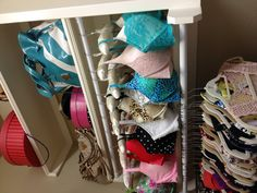 Organizing bras. Not sure why exactly I've never thought of this...seems pretty obvious. I will now be doing this, fabulous idea
