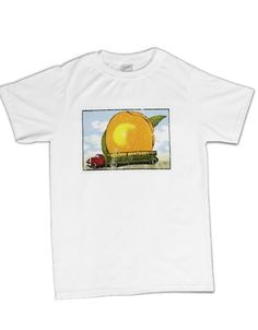 The Allman Brothers Band  Eat A Peach Distressed Mens T-Shirt - Guaranteed Authentic.  Fast Shipping.