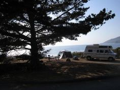 Kirk Creek Campground is an oceanside paradise, with each site overlooking the Pacific Ocean. It offers a variety of opportunities for relaxation and recreation. The campground is within walking distance of the area's largest sandy beach and is close to a variety of scenic trails that lead visitors into the Los Padres National Forest.